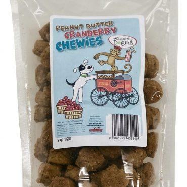 Peanut Butter Cranberry Chewies Dog Treats