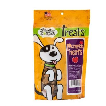 Tasty, tail-wagging treats that your dog will LOVE!  Includes pumpkin, apples, and honey, baked in a charming heart shape.